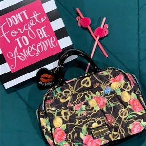 Betsy Johnson Cosmetic Travel Bag/Purse